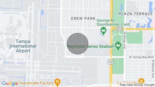 Tampa Apartment, ~ 1 Mi to Tampa Bay NFL Stadium! Map