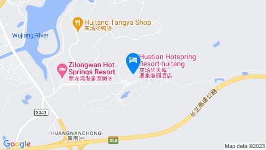 Huitang Huatian Hot Spring Resort Hotel Map