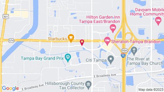 Quality Inn & Suites Tampa - Brandon near Casino Map