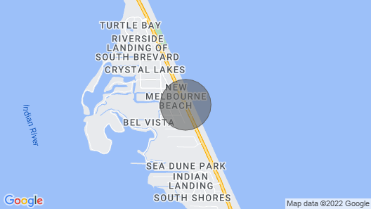 Private Ocean Front House Paradise Found Florida Melbourne Beach Dog Friendly Map