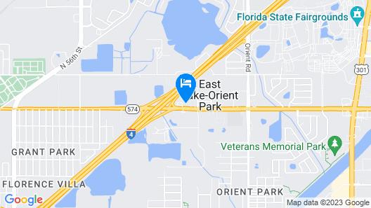 Motel 6 Tampa, FL Map