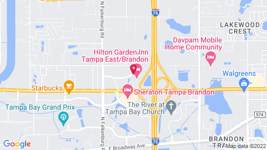 Hilton Garden Inn Tampa East Brandon Map