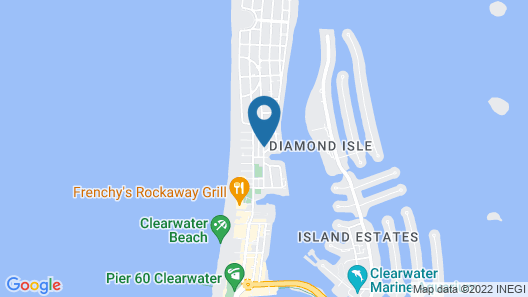 Island Cay Hotel - Clearwater Beach Map