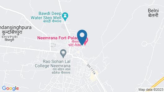 Neemrana Fort-Palace Map