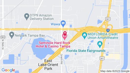 Seminole Hard Rock Hotel & Casino Tampa Map