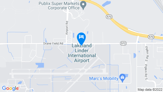Hilton Garden Inn Lakeland Map