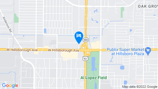 Days Inn & Suites by Wyndham Tampa/Raymond James Stadium Map
