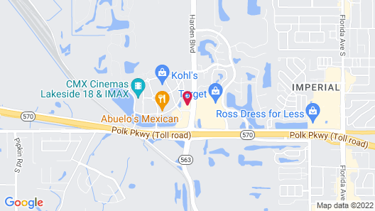 Courtyard by Marriott Lakeland Map