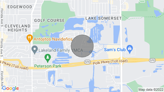 Centrally Located Between Orlando and Tampa. Short Drive to Major Theme Parks Map