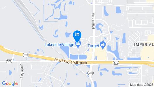 Hampton Inn & Suites Lakeland-South Polk Parkway Map