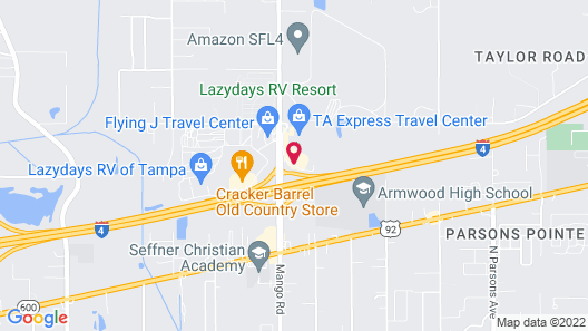 Hampton Inn & Suites Tampa East (Casino Area) Map