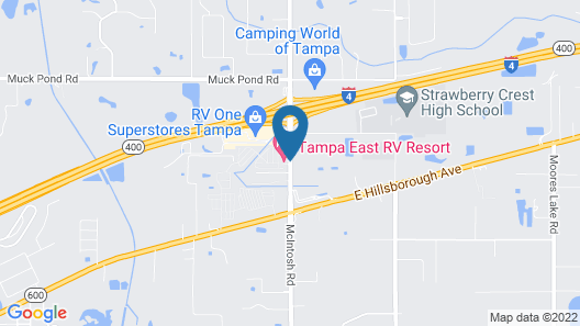 Tampa East RV Resort- Campground Map