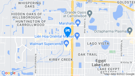 La Quinta Inn & Suites by Wyndham Tampa Central Map