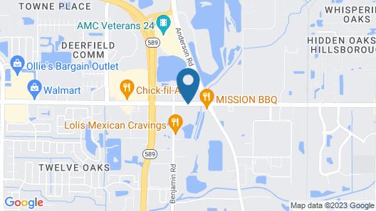 Hampton Inn Tampa-Veterans Expwy (Airport North), FL Map