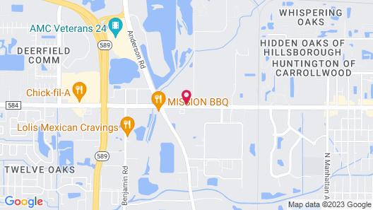 Comfort Suites Tampa Airport North Map