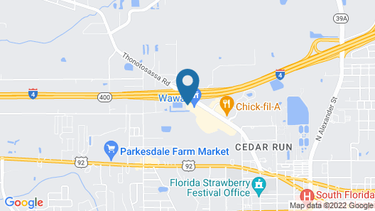 TownePlace Suites by Marriott Plant City Map