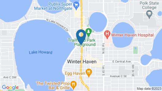Budget Inn Winter Haven Map