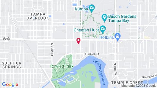 Tampa Inn - Near Busch Gardens Map