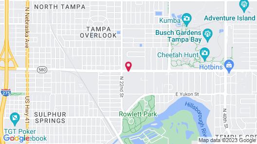 Rodeway Inn Tampa near Busch Gardens-USF Map