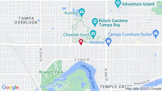 Hampton Inn & Suites Tampa Busch Gardens Area Map