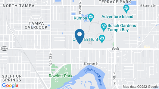 La Quinta Inn by Wyndham Tampa Near Busch Gardens Map