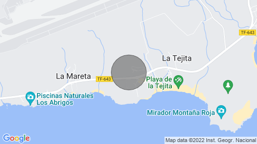 La Tejita - With two Terraces Depending on the Direction of Wind and sun Map