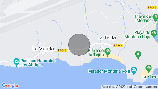 Holiday Apartment Playa de la Tejita With Mountain View, Wi-fi, Terrace & Pool; Parking Available Map