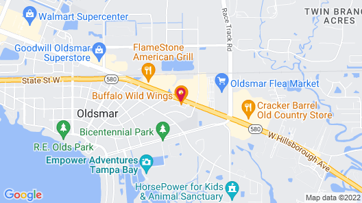 Hilton Garden Inn Tampa Northwest/Oldsmar Map
