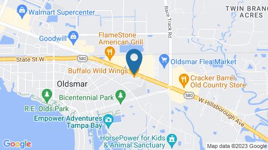 Hilton Garden Inn Tampa Northwest/Oldsmar Map