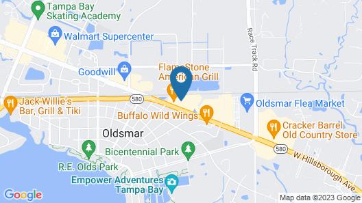 Hampton Inn & Suites Tampa Northwest/Oldsmar Map