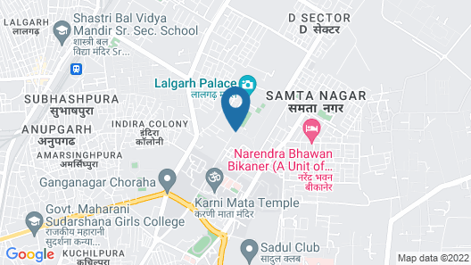 The Lallgarh Palace - A Heritage Hotel Map
