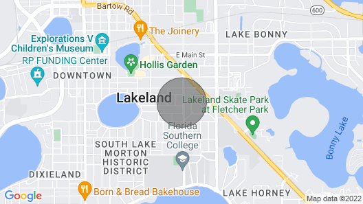 Spacious Renovated Bungalow Near Downtown Lakeland Map
