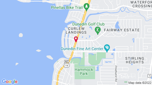 Palm Court Motel Map