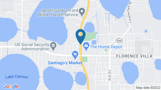 Travelodge by Wyndham Winter Haven Map