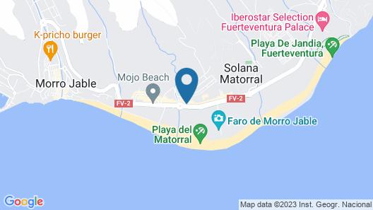 The Real Casa Atlantica Morro Jable Map