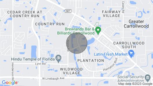 Beautiful Tampa Home in Carrollwood Map