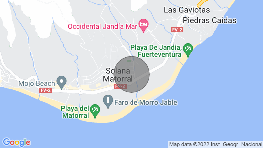 CASA VERONICA Morro Jable Jandia Pool -Meerblick -WiFi Roof Terrace -8Personen Map