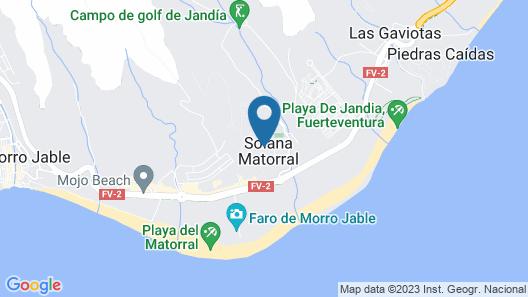 Apartamentos Dunas Jandia Map