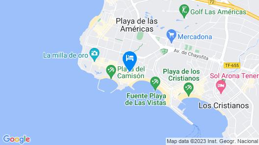 Coral Compostela Beach Map