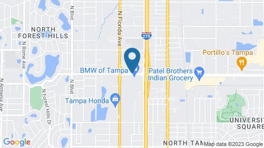 Value Lodge Busch Gardens Tampa Map