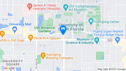 Embassy Suites by Hilton Tampa USF Near Busch Gardens Map