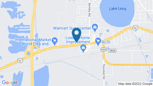 Best Western Auburndale Inn & Suites Map