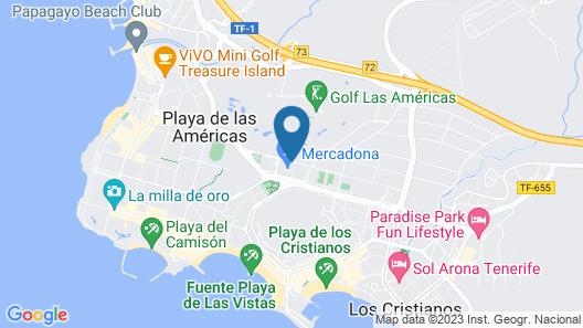 Coral Compostela Beach Golf Map