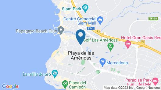 Apartamentos Oro Blanco Map