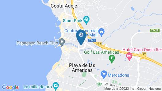Hotel Olé Tropical Tenerife Map