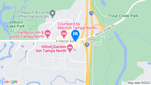 Fairfield Inn & Suites by Marriott Tampa North Map