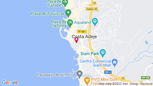 Jardín Tropical Hotel Map