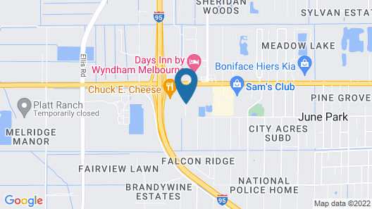 Extended Stay America - Melbourne - I-95 Map