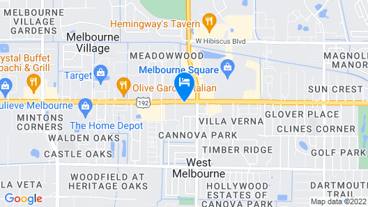 Courtyard Melbourne West Map