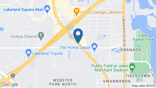 Motel 6 Lakeland, FL Map